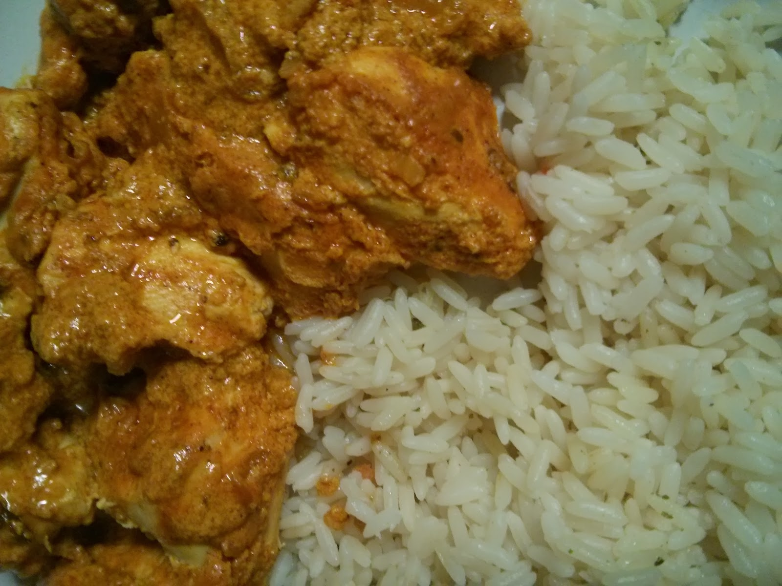 Chicken Korma and Rice