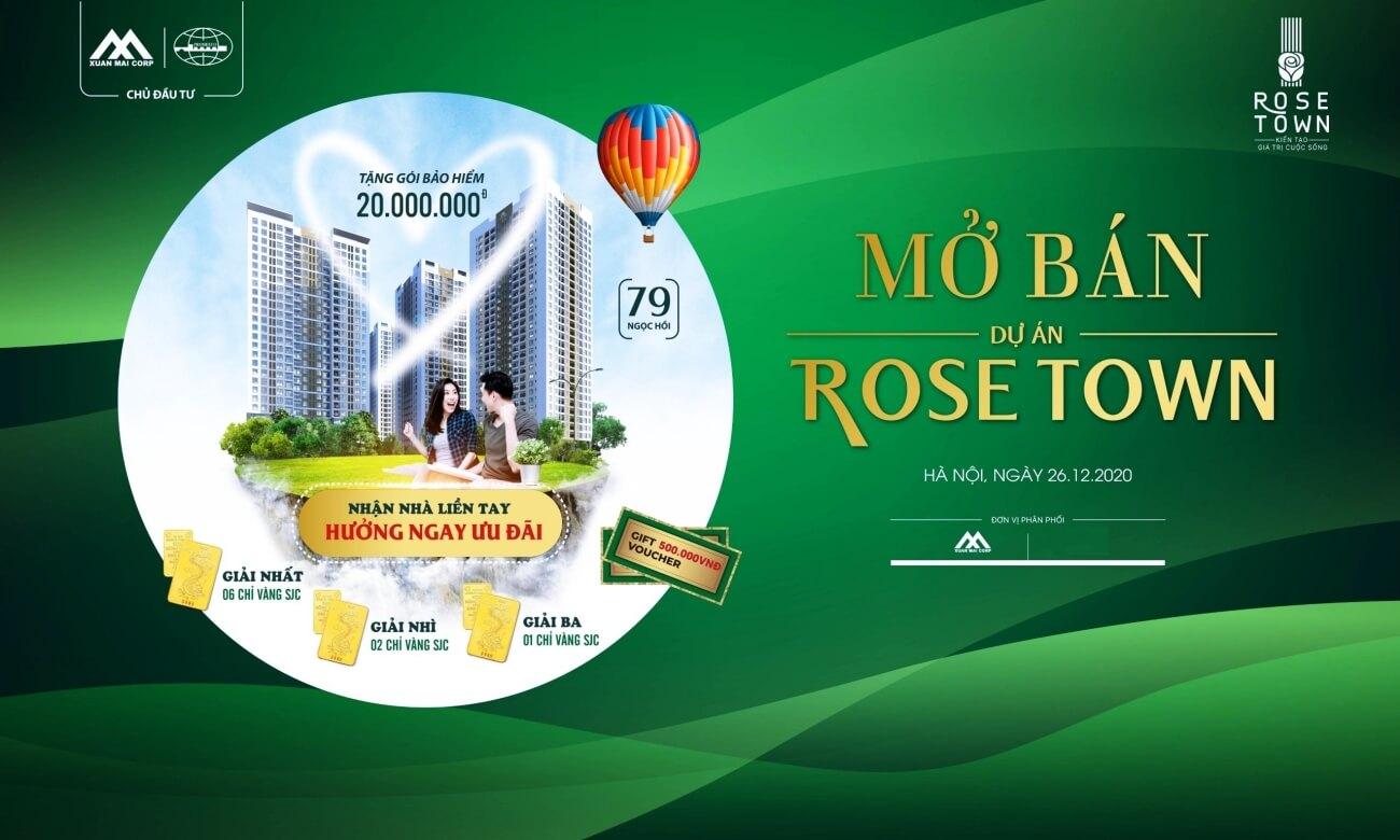 Banner mở bán dự án Xuân Mai Rose Town