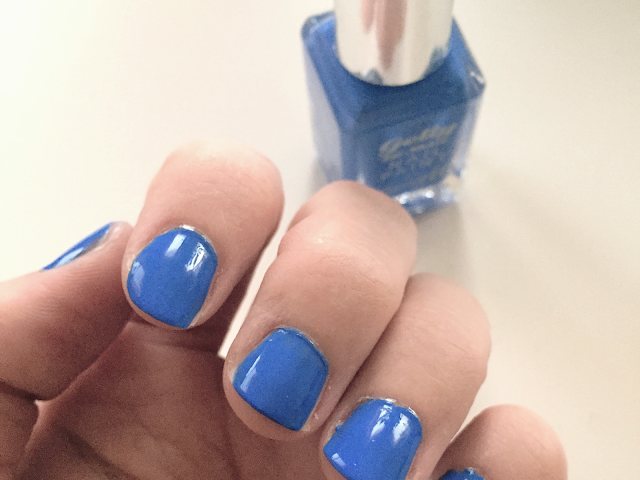 Blue nail varnish Barry M