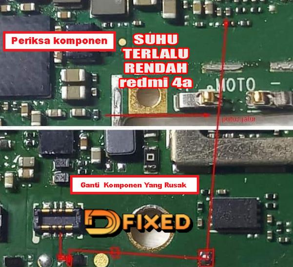 Cara Memperbaiki Xiaomi Redmi 4A Suhu Terlalu Rendah