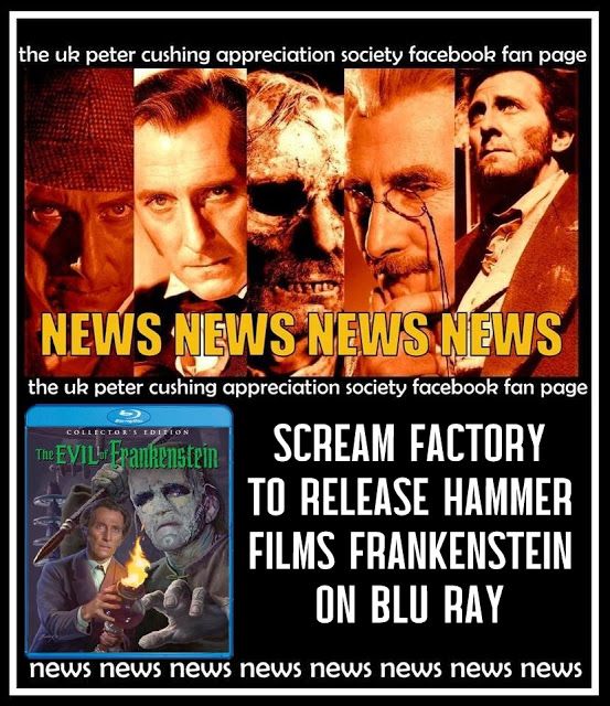 NEWS: SCREAM FACTORY RELEASES CLASSIC HAMMER FRANKENSTEIN TO US BLU RAY