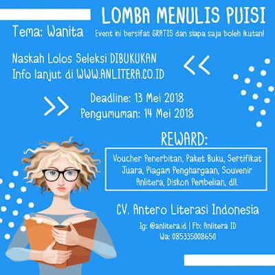 Lomba Menulis Puisi Tema Wanita 2018 by Anlitera ID