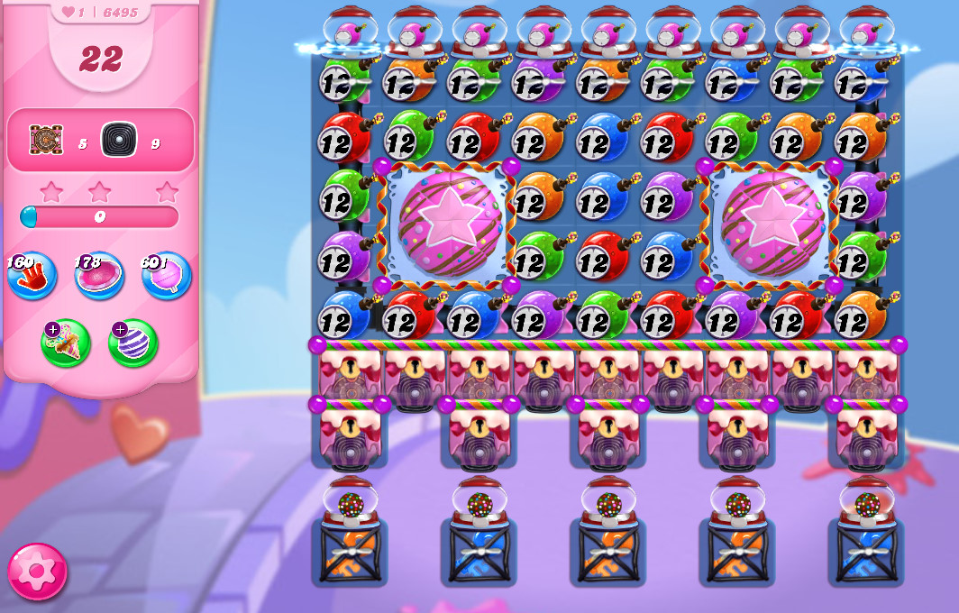 Candy Crush Saga level 6495