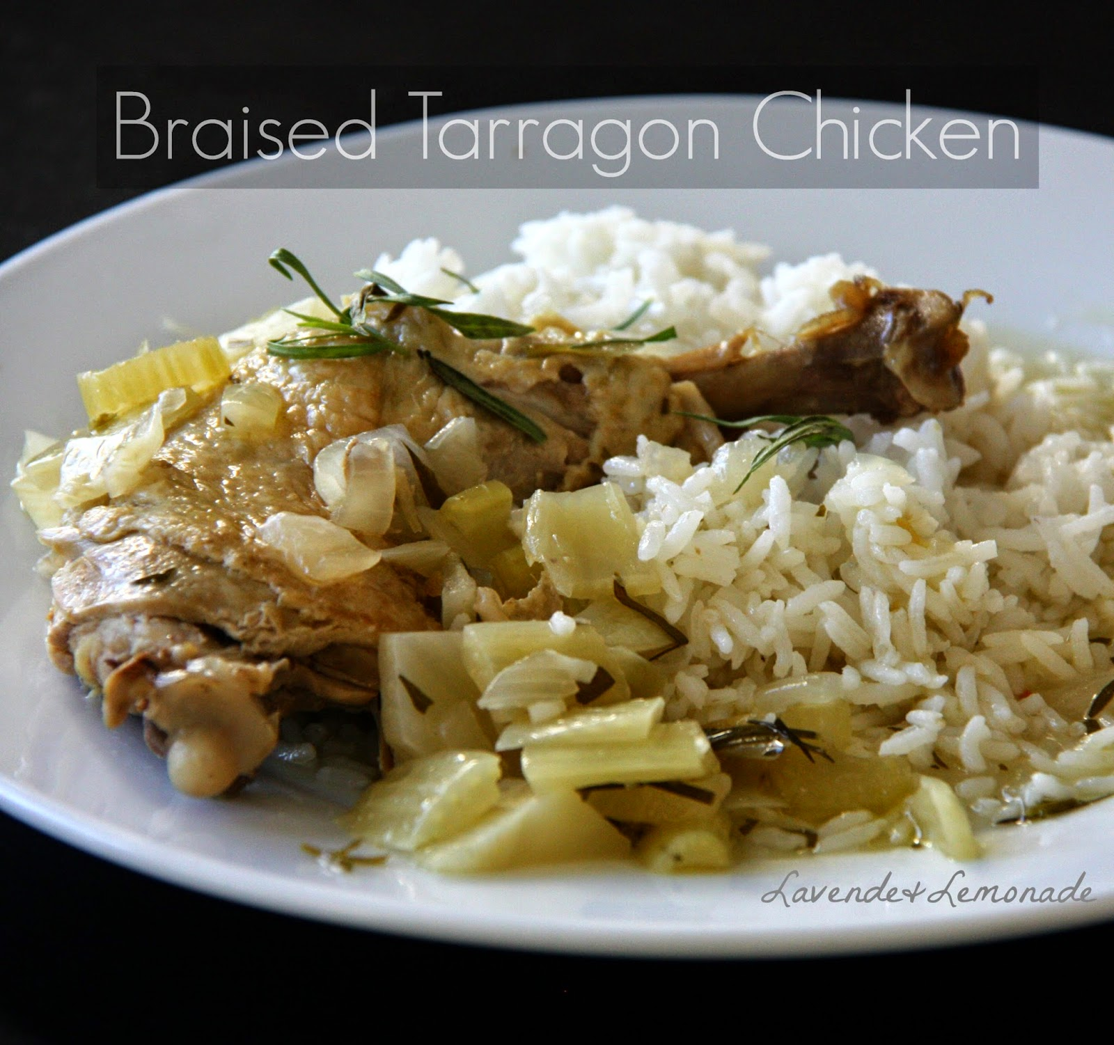 Braised Chicken with Tarragon, from The New American Herbal