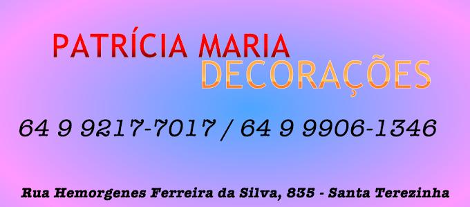 ★ DECORAÇÃO PARA FESTAS & EVENTOS - A decoradora Patrícia Maria, está atuando há mais de 4 anos no mercado de decorações de festas, eventos e aluguel de Pula-pula.