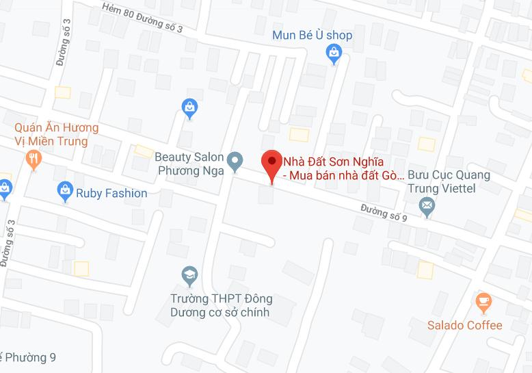 Vị trí nhà đất Sơn Nghĩa trên bản đồ
