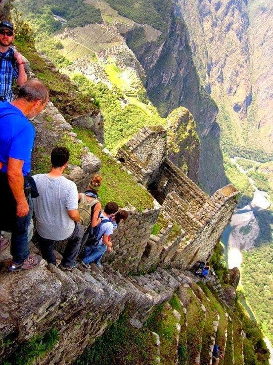 #5. Vertical stairs at Machu Picchu in Peru. - 19 Secret Travel Destinations You Never Knew Existed… Almost Nobody Knows About #17.
