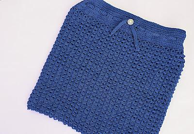 5 - Crochet Imagen Falda verde a crochet y ganchillo sencilla facil DIY por Majovel Crochet
