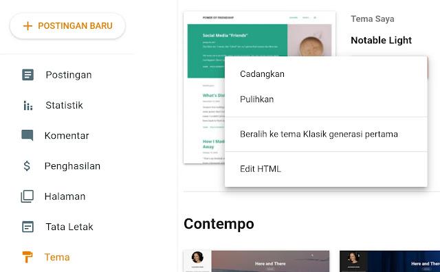 editor HTML blogspot