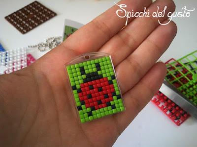 coccinella portachiavi con pixelhobby