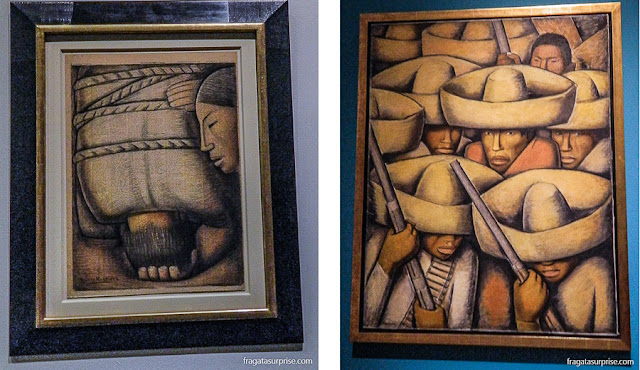 "Obras do pintor mexicano Alfredo Ramos Martínez: ""Compaixão"" e ""Zapatistas"""