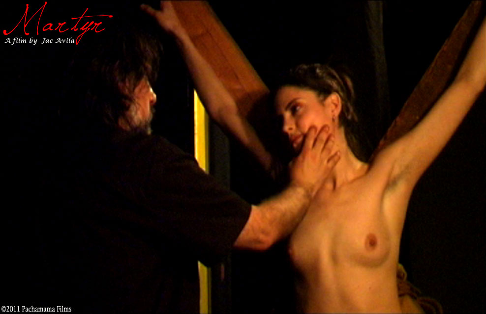 Whipping her crucified naked body 4