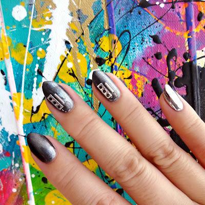 Grey Metallic Nails
