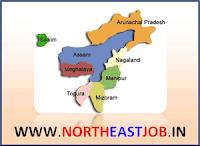 Northeast India eight states Jobs Arunachal Pradesh, Assam, Manipur, Meghalaya, Mizoram, Nagaland, Sikkim and Tripura