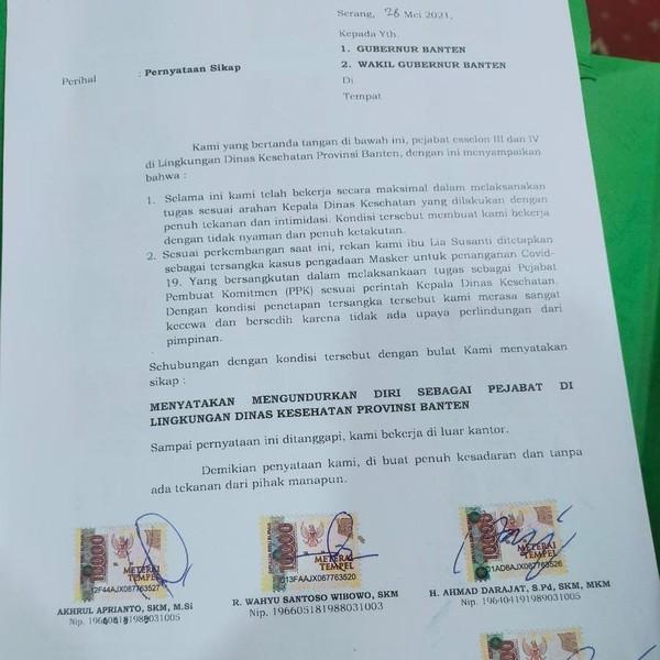 20 Pejabat Dinkes Banten Mengundurkan Diri Imbas Kasus Korupsi Masker