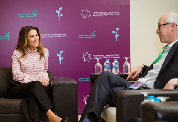 Queen Rania of Jordan attended the annual Teacher Skills Forum