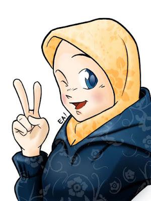 download gambar kartun muslimah lucu
