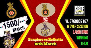 10th Match RCB vs KKR IPL 2021 Today Match Prediction 100% Sure Winner
