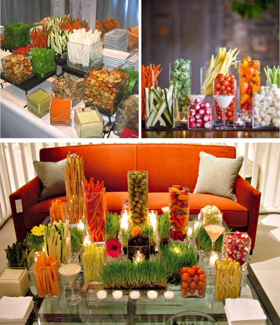Wedding Reception Food Table Ideas: Details: Let Guests Veg Out During Cocktail Hour