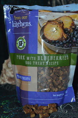 Pork and blueberry tiny treats for clicker training