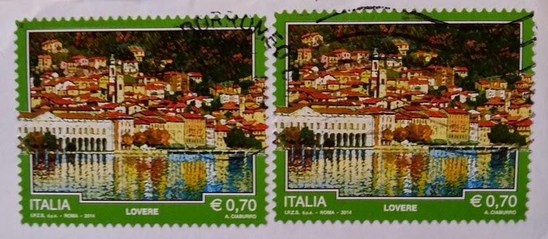 francobollo del 2014 dedicato a Lovere (BG)