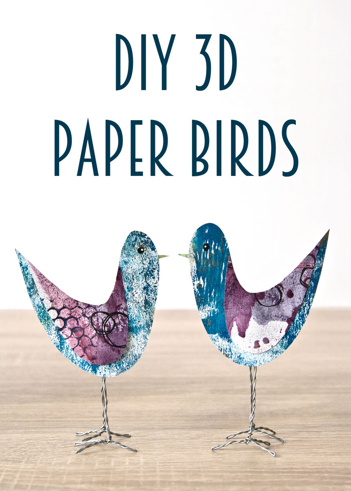 DIY 3D Paper Birds blog post and video by Kim Dellow