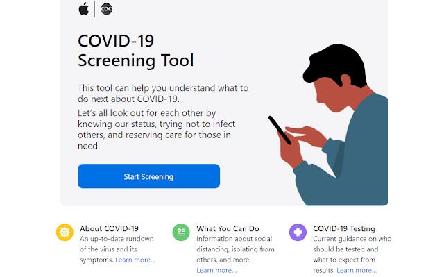 أبل تطلق تطبيق أداة فحص COVID-19 وموقعها الإلكتروني