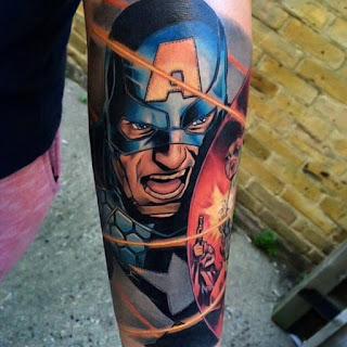 tatuaje capitan america