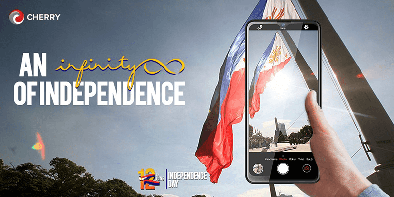 CHERRY celebrated the Philippines' 123rd year of independence using Aqua Infinity, still with freebies