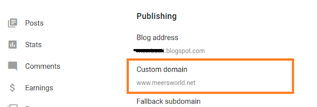"""How To Redirect Your """".blogspot"""" URL To Custom Domain in New Blogger(Latest)."""