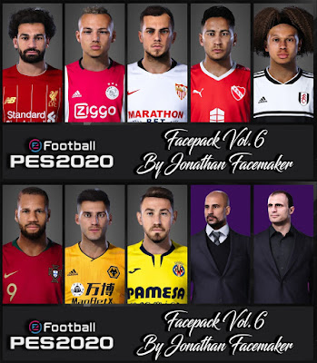 PES 2020 Facepack Vol 6 by Jonathan Facemaker