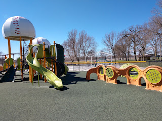 adaptive play structure at the inclusive playground at Miracle Field in Sioux City's Riverside Park