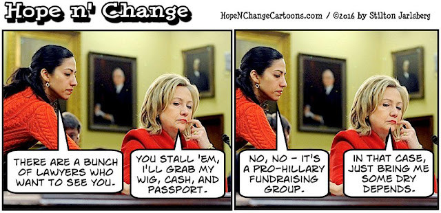 obama, obama jokes, political, humor, cartoon, conservative, hope n' change, hope and change, stilton jarlsberg, hillary, huma, holder, lawyers for hillary