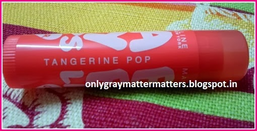 Maybelline Baby Lips Tangerine Pop India review