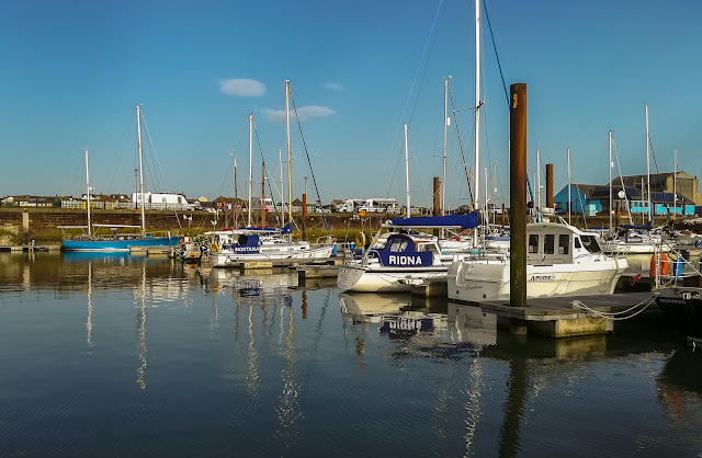Photo of flat calm water at Maryport Marina as we left on Friday evening