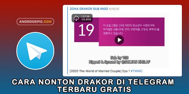 Nonton drama korea terbaru gratis lewat telegram android sub indo, selain menggunakan aplikasi viu, cara ini terbukti ampuh.