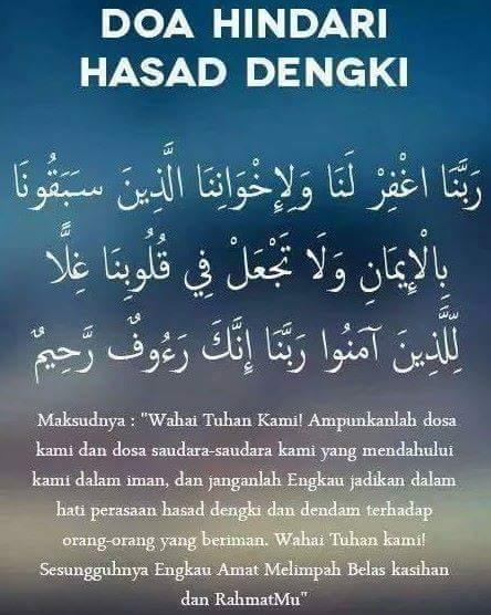 Image result for doa hindari dari hasad dengki