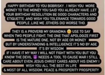 I wish you more money to the money you said you have- Crossdresser James Brown wishes Bobrisky an happy birthday