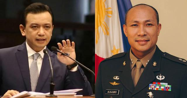 Sen. Trillanes Suportado si Alejano sa pagtakbo nito sa Senado sa 2019 Election.