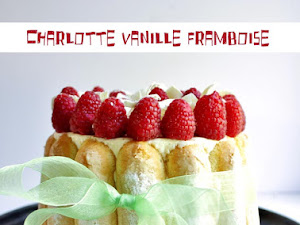 Charlotte vanille framboises