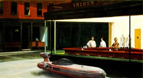 ENG 399 » Nighthawks by Edward Hopper |Nighthawks Star Wars