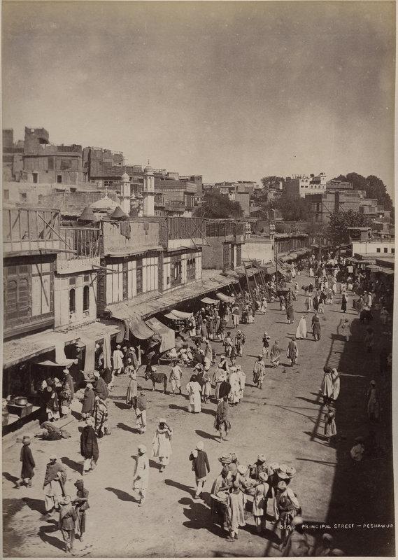 Principal Street of Peshawar - c1860-90's