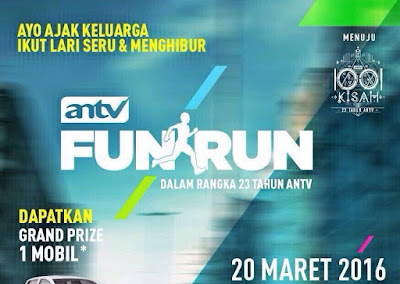ANTV Fun Run 2016 Bekasi, Summarecon Mall Bekasi, CFD Bekasi, Kantor Walikota Bekasi