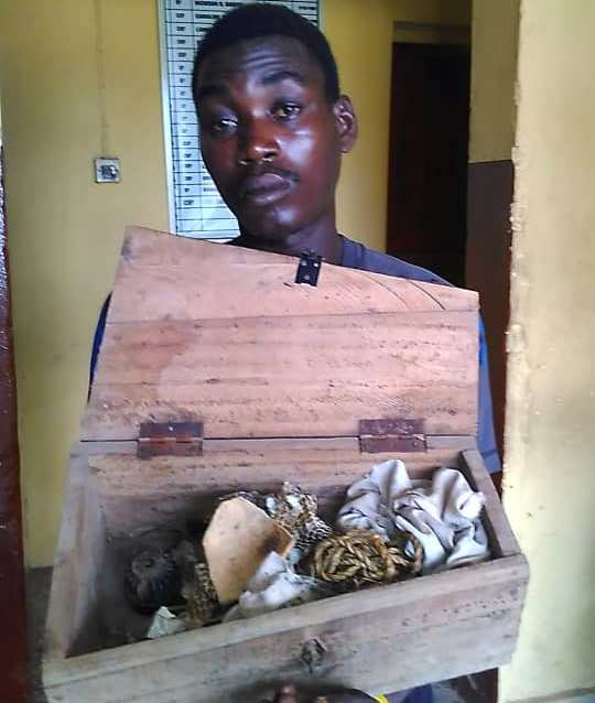 Coffin recovered from ritualist's den, one arrested