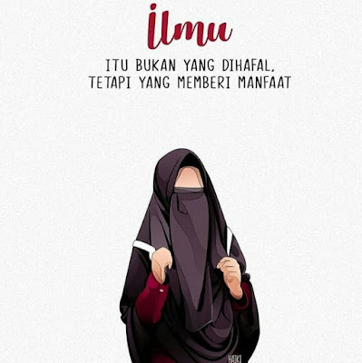 DP BBM Wanita Muslimah Bercadar Kartun