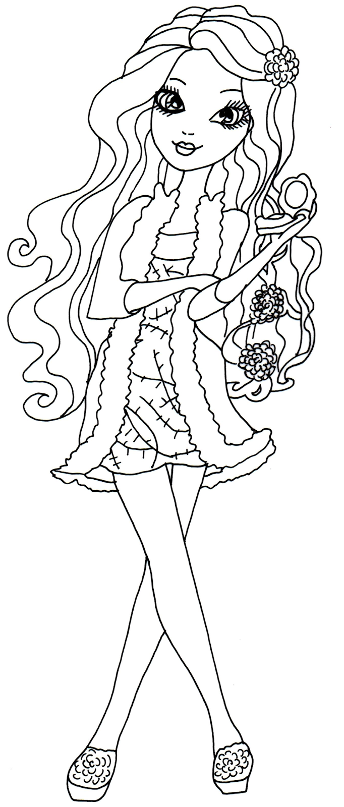 Fashion Model Outline Templates Sketch Coloring Page