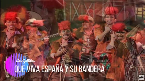 """Pasodoble con LETRA """"Que viva España"""". Comparsa """"Los Gallitos"""" (2014)"""