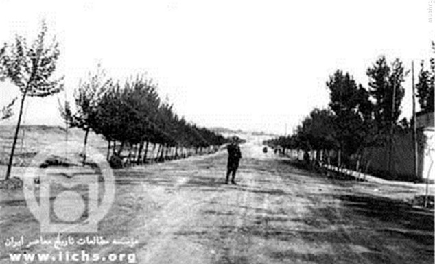 خیابان ولی عصر، تقاطع خیابان طالقانی در سال ۱۳۰۷