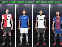 Option File PES 2018 Terbaru untuk PTE Patch 3.0 update 20/1/2018