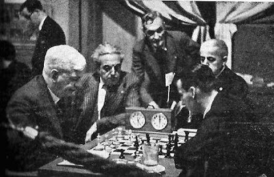 Partida George Thomas-Henri Grob en el Torneo Internacional de Ajedrez Barcelona 1935